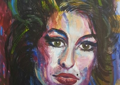 Amy Winehouse.Acrylic on canvas.12_ x 16_. prints available