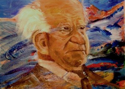 Ben Gurion..Acrylic on canvas.12_ x 16_. prints available