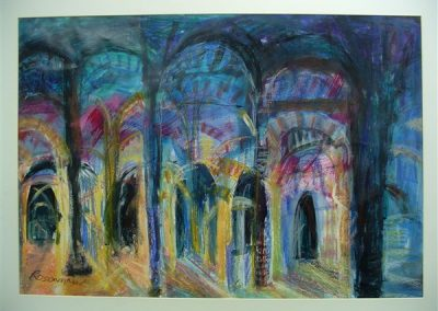 Cordoba.Mixed media on paper . 40_ X 28_