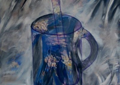 Cup. Acrylic on canvas.32_ x 40_