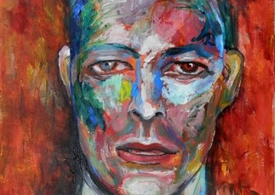 David Bowie Acrylic on canvas.12_ x 16_. prints available