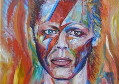 David Bowie younger.Acrylic on canvas.16_ x 20_. prints available