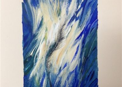 Feather 13. Mixed on Arch Paper 35 X 25 cm.