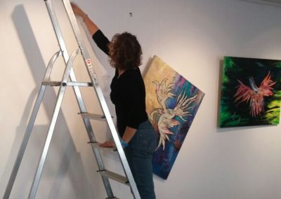 Hanging exhibition-Liora Rosenman's paintings_