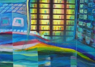Iluminated_bar-sold. Acrylic on canvas.40_ x 40_