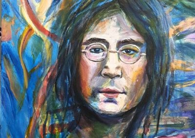 John Lennon.Acrylic on canvas.20_ x 16_. prints available