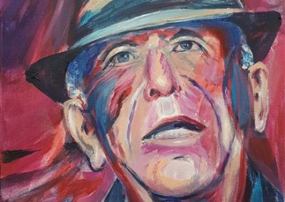 Leonard Cohen Acrylic on canvas.12_ x 16_. prints available