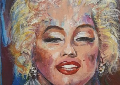 Marylin Monroe.Acrylic on canvas.12_ x 16_. prints available