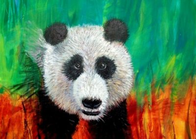 Panda Puppy. Acrylic on canvas.28_ X 40_
