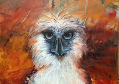 Philipines eagle .Acrylic on canvas. 40_ X 28_