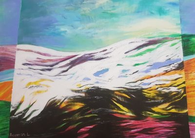 The Hermon mountains. Acrylic on canvas.28_ x 40_
