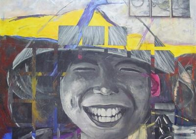 The Vietnamese boy. Acrylic on canvas.40_ x 40_