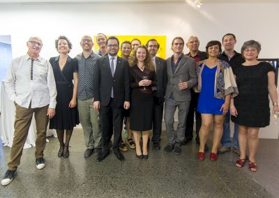 The artists and local government representatives and Israeli embassy's delegates in Barcelona 2015 Project