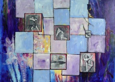 The_purple_dancers.Acrylic on canvas.40_ x 40_