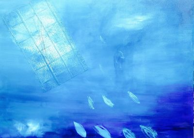 Underwater blue. Sold. Acrylic on canvas.40_ x 40_
