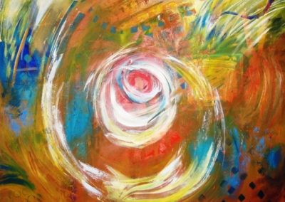 White_light_spiral. Acrylic on canvas.40_ x 40_