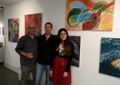 With Rei and Yaron at Oved's artworks_