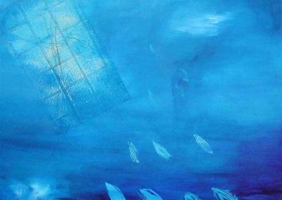 infinite_blue_sea-SOLD. Acrylic on canvas