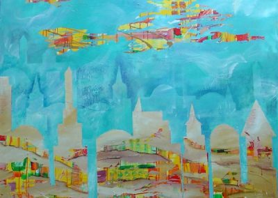 (sold)Upper_and_terrestrial_Jerusalem.Acrylic on canvas 40_ x 40_