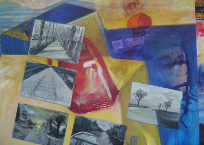 sunset_in_Israel_Perspectives_Acrylic on canvas. 48_x 60_