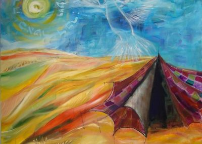 the_tent_of_Sarah.Acrylic on canvas . 32_ x 32_